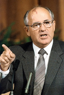 Mikhail Gorbachev, the last leader of the CPSU and the Soviet Union, as seen in 1986