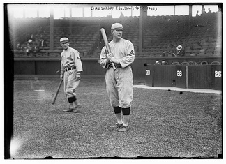 Miller Huggins (left) and Bresnahan with the St. Louis Cardinals