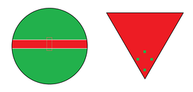 The safe havens of a cricket field (left) and baseball field (right) are depicted in green.
