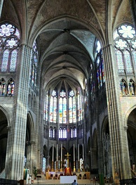 The Abbey of St. Denis, France. Abbot Suger of this Abbey was an early patron of the extraordinary artistic achievements of the epoch.