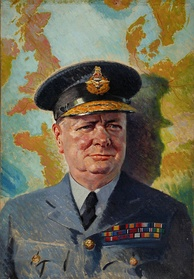 Churchill in his air commodore's uniform, circa 1940.