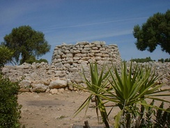 Example of prehistoric talaiot in Mallorca