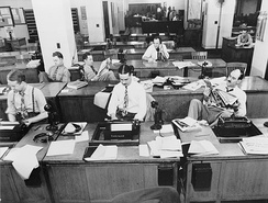The New York Times newsroom, 1942