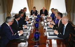Sturgeon chairs a meeting of her newly appointed 2016 cabinet