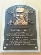 Plaque of Tim Keefe at the Baseball Hall of Fame
