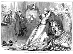 D. H. Friston's engraving of the original production of Trial by Jury