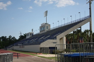 Percy Beard Track at Pressly Stadium is the home of the Florida Gators track and field teams.