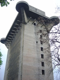 One of six flak towers built during World War II in Vienna.