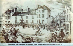 The attack on the Chartists by the Westgate Hotel, 4 November 1839