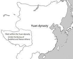 Tibet within the Yuan dynasty under the top-level department known as the Bureau of Buddhist and Tibetan Affairs (Xuanzheng Yuan).