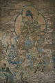 A painting of the Buddhist manjusri, from the Yulin Caves of Gansu, China, from the Tangut-led Western Xia dynasty