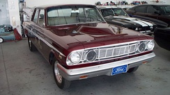Modified, street-driven 1964 Ford Fairlane Thunderbolt factory experimental drag car