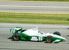 Tracy competing in the 2002 Indy 500