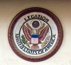 American Legation Seal above door