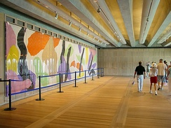 The Utzon Room: rebuilt to a design (and endowed with an original tapestry) by Utzon