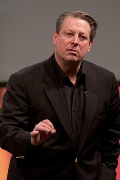 Al Gore during one of his slideshows about the climate crisis, 2006
