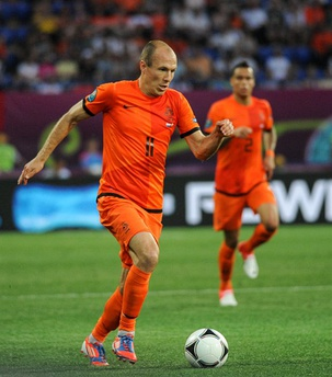 Midfielder Arjen Robben has been deployed as an inverted winger throughout his career.