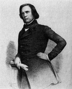 August Hergenhahn in a lithograph, 1848