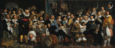 Bartholomeus van der Helst, Banquet of the Amsterdam Civic Guard in Celebration of the Peace of Münster, 1648; 5.47 metres wide