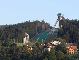 Bergiselschanze hosted the ski jumping large hill events for both the 1964 and 1976 Winter Olympics held in Innsbruck.