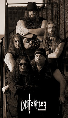 Blitzkrieg are one of the NWOBHM bands which re-formed in the 2000s.[125]