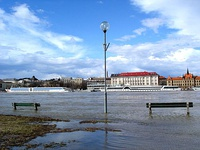 Bratislava does not usually suffer major floods, but the Danube sometimes overflows its right bank