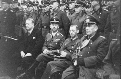 Terboven (seated 2nd from right) with Quisling, Himmler and von Falkenhorst.