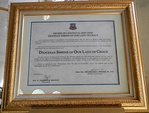 Decree of Canonical erection of a house of religious, Diocesan Shrine of Our Lady of Grace, Roman Catholicism in the Philippines, Roman Catholic Diocese of Caloocan.