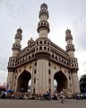 "Charminar, translating to ""Four Pillars"", is a monument and mosque located in Old City in Hyderabad, India."