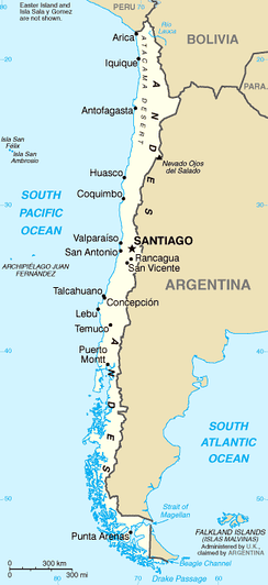 A map of Chile