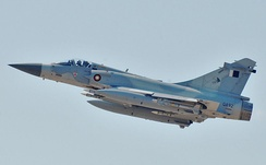 A Qatar Dassault Mirage 2000 flying over Libya