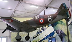 French Republic air force Dewoitine D.520 similar to Pierre Le Gloan's.
