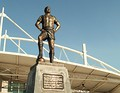The statue of footballer Nilton Santos, situated outside the stadium, November 2009