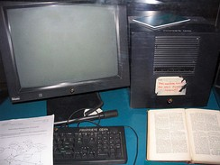 This NeXT Computer was used by Tim Berners-Lee at CERN and became the world's first Web server.
