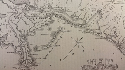 Route of British after the Battle of New Orleans[1]:1036