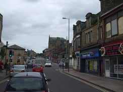 The very top of the trunk road in Glossop