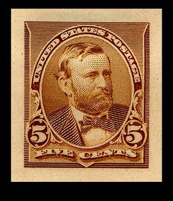 Ulysses S. GrantDie proof of 1st Grant stamp