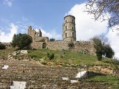 The ruins of the Grimaldi castle at Grimaud, near Saint-Tropez