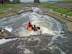 Holme Pierrepont National Watersports Centre in Nottingham next to the River Trent