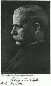 Henry van Dyke (1852–1933), a modernist who pushed for revisions to the Westminster Confession of Faith, 1900–1910.