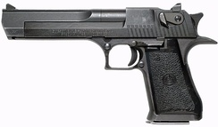 The .357 IMI Desert Eagle, one of the few semi-automatic pistols that fire the .357 Magnum cartridge.