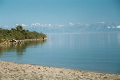 Southern shore of Issyk-Kul Lake