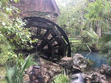 Millhouse and waterwheel at Juniper Springs Florida built by the CCC