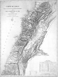 1862 map drawn by the French expedition of Beaufort d'Hautpoul,[28] later used as a template for the 1920 borders of Greater Lebanon.[29][30]