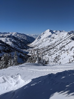 Near the top of Little Cottonwood Canyon looking west
