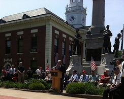 Memorial Day observances in small New England towns are often marked by dedications and remarks by veterans and politicians.