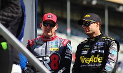 Ragan and Michael McDowell (left), his teammate at FRM in 2018 and 2019, at Atlanta in 2019