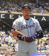 "Miguel Cabrera, three-time recipient of the Mayo Smith Society's ""King Tiger Award"""