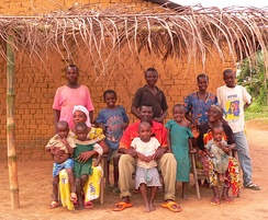 Mongo family in the Province of Equateur, Democratic Republic of the Congo.