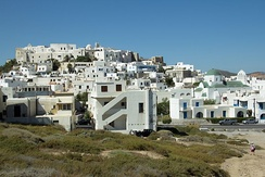 Traditional styled white houses in Naxos, Cyclades